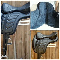 Treeless leather saddle soft leather horse saddle