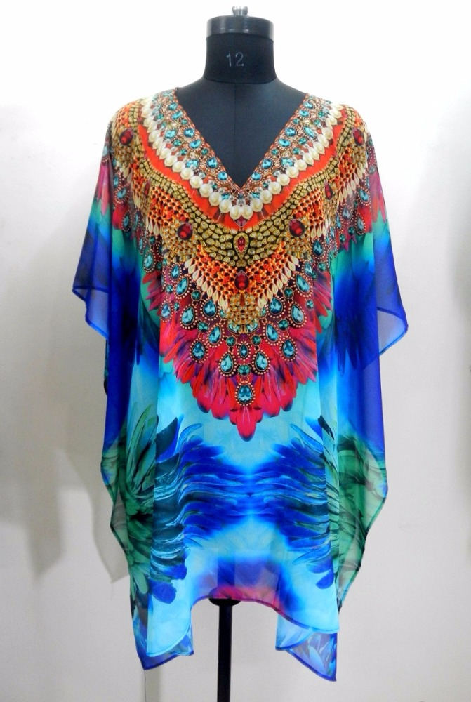 Manufacturers of Turkish Chiffon Digital Print Kaftan