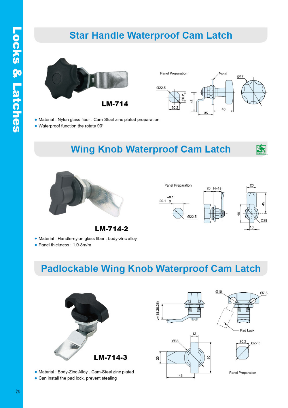 LM-714-2 Zinc Die Casting Industrial Metal Cabinet Wing Knob Cam Latch  Lock, View cam lock, LIPSON Product Details from LIPSON ENTERPRISE CO ,  LTD  on