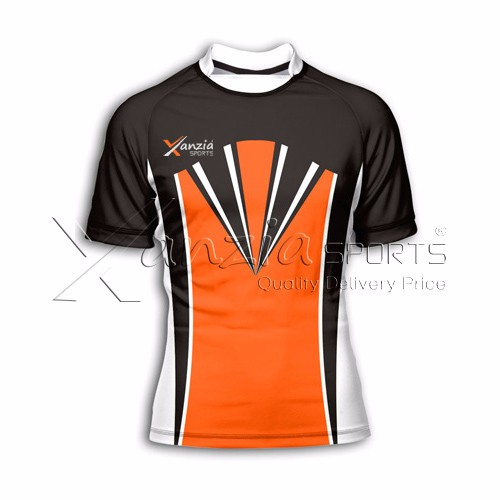 100% polyester made sublimation custom rugby jersey