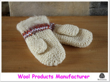 100% wool gloves Knitted winter MITTENS High quality HANDMADE