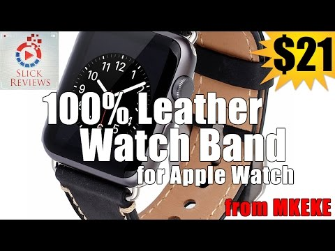 Genuine Leather Band for Apple Watch from MKEKE - Apple Watch Series Ep. 2