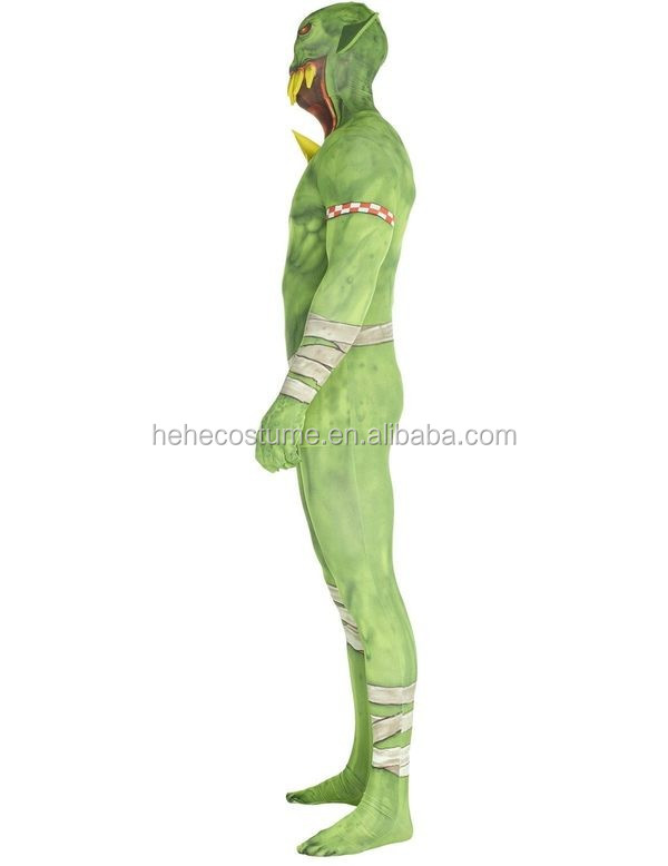 b48f6c360 Orc Jaw Dropper Green Morphsuit Costume - Buy Green Santa Costume Product  on Alibaba.com