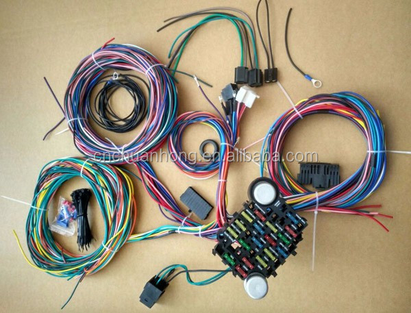 18 Fuse 21 Circuit Wiring Harness CHEVY Mopar Hotrods UNIVERSAL X-long Wires