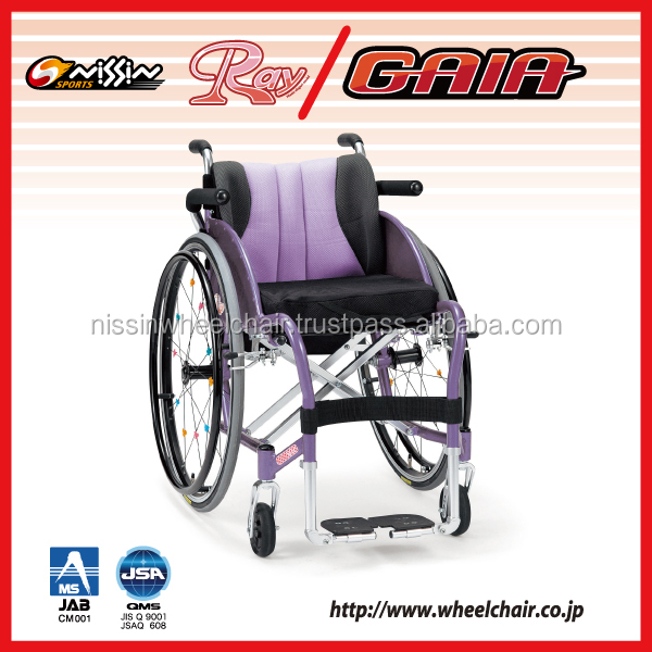 Reliable nissin medical wheel chair with multiple functions made in Japan