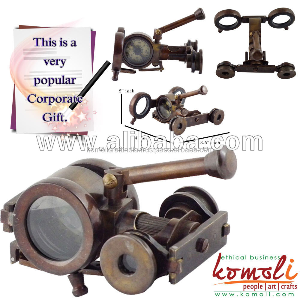 Handmade die casted Canon Binocular Antique Finish Nautical Collectible desk decorative