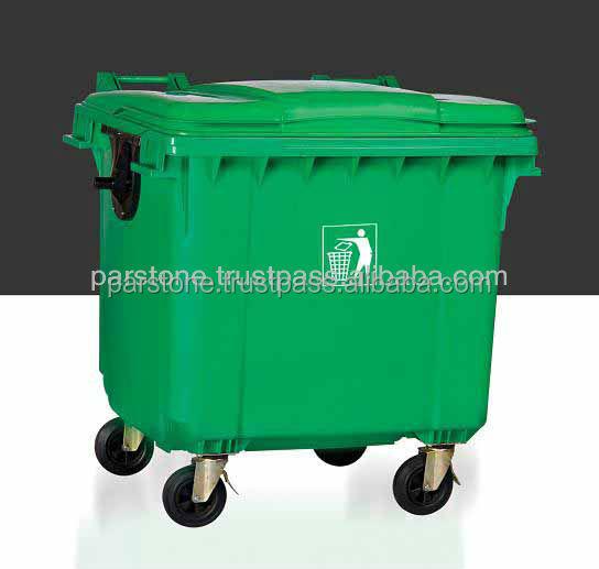 Waste Bin,Hdpe,1100-l,Two-wheeled,Sgs Certified
