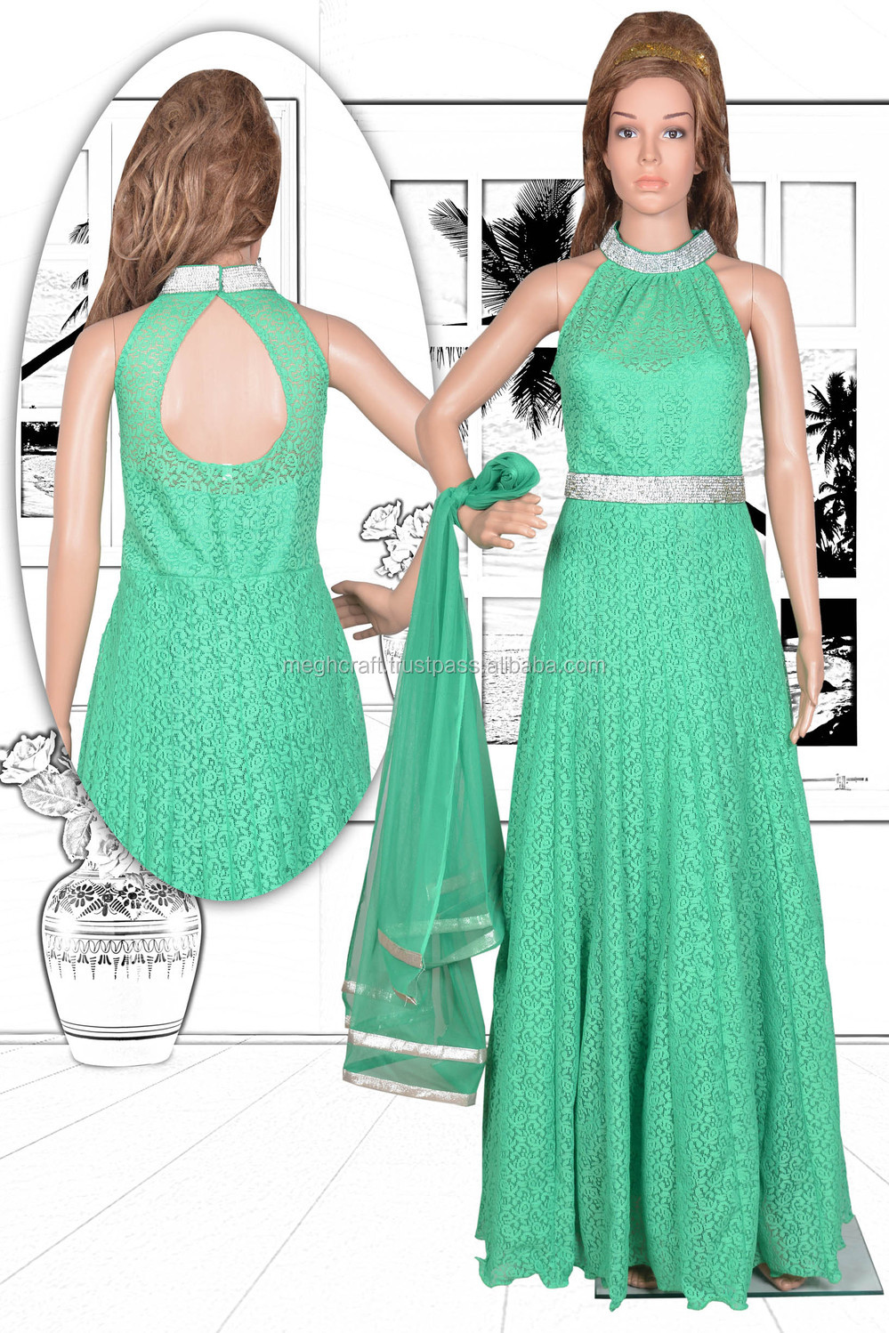 dd03f731dd59 PARTY WEAR FLOOR TOUCH LONG GOWN-WHOLESALE CHIFFON AND NET GOWN-EVENING  WEAR DRESS