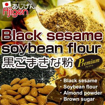 Natural and Easy to use soybean meal buyer Black sesame Soybean flour with Flavorful made in Japan