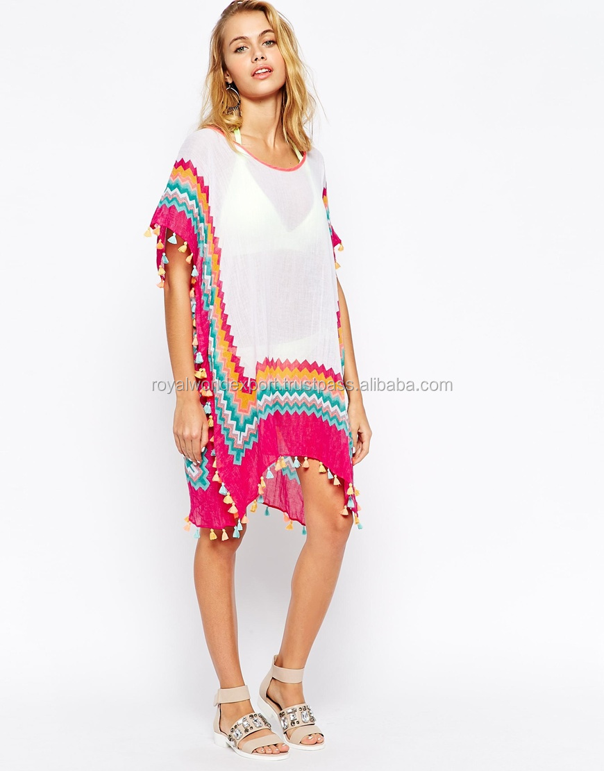 f8d895550f6 Cold Shoulder Beach Cover Up Top Caftan Fit Casual Cloth - Buy ...