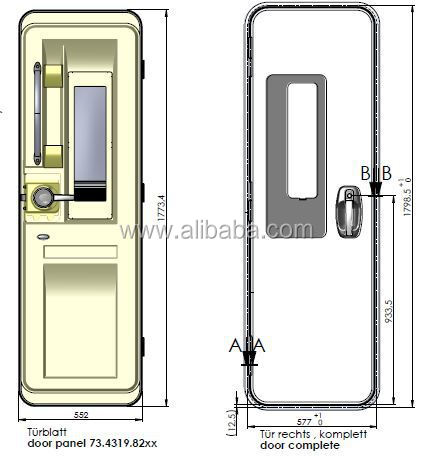 Caravan entrance doors rv doors motorhome doors buy main for Rv garage door dimensions