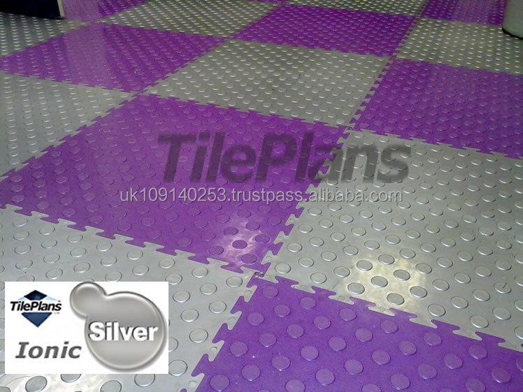 Garage pavimenti in piastrelle piastrelle ad incastro in pvc nascosto nascosta comune disegno - Piastrelle pvc ad incastro ...