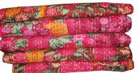 indian cotton throw printed bedspread gudari Handmade kantha quilt