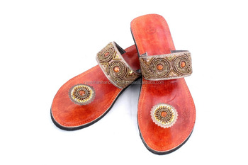 0ead088793a27 Rh11 Women Leather Moroccan Style Handmade Sandal Slipper Indian Toe Strap  - Buy Rubber Slipper Straps,Leather Hat Straps,Leather Strap Cutter Product  ...
