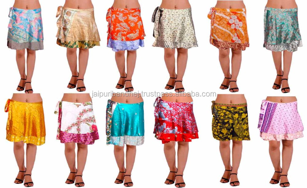 Saree Wrap Skirt,Indian Short Skirt,Short Beach Wrap Skirt For ...
