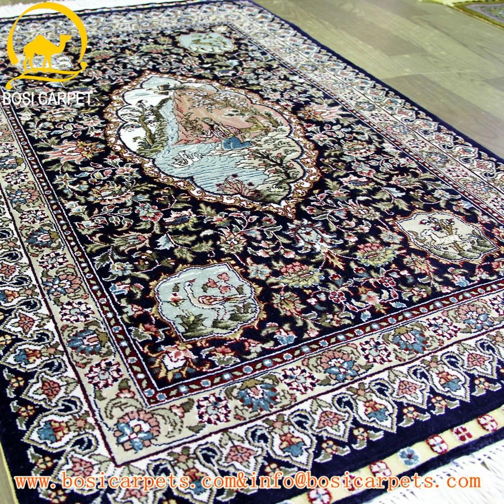 2x3ft Turc Tapis En Soie Fait Main Textile A La Maison De Priere De