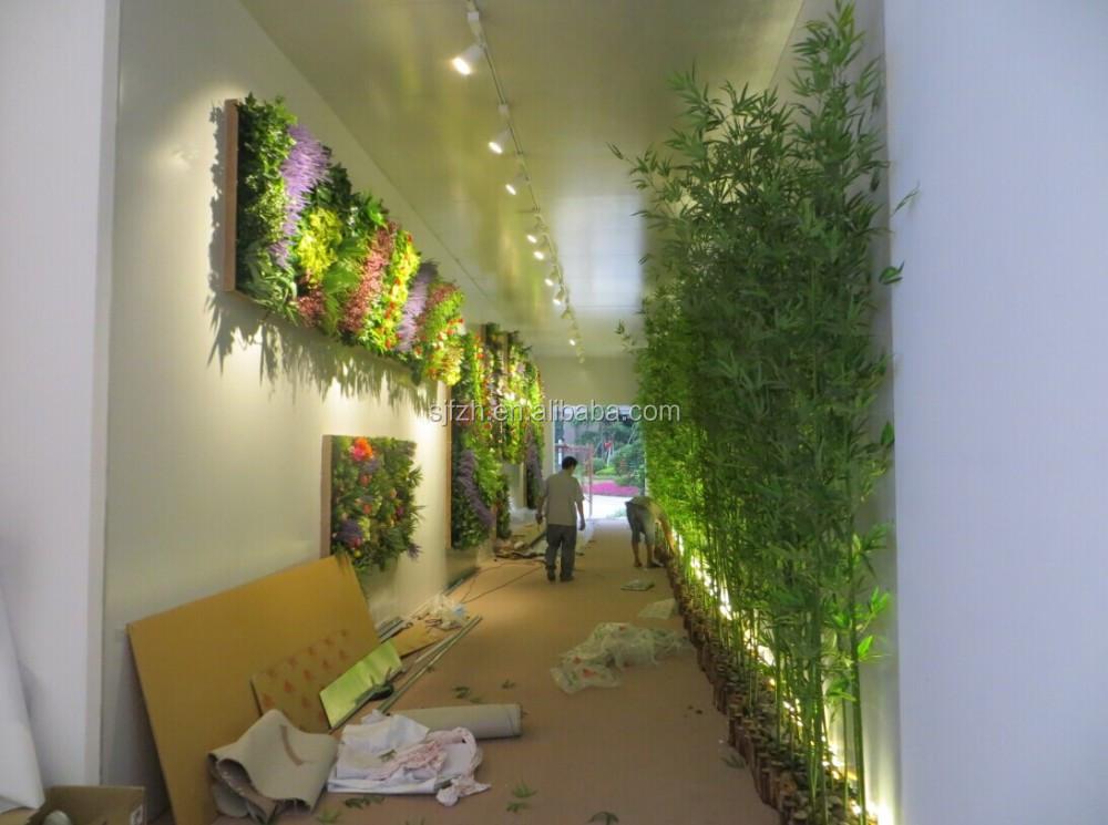 Kantoor en showroom muur decoratie nep bamboe kunstmatige for Decoratie gang