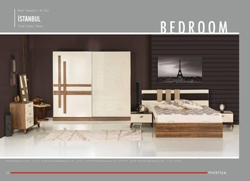 Istanbul 2016 New Fashion High Quality Modern Bedroom Set