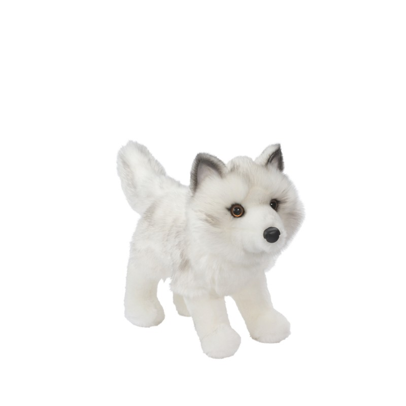 Plush Fluffy White Wolf Stuffed Animal Toy Buy Plush Wolf Soft