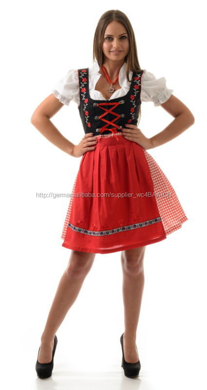 damen mini dirndl kost m set oktoberfest kleidung. Black Bedroom Furniture Sets. Home Design Ideas