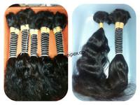 Quality virgin Indian human hair bulk loose wavy, body wave bulk virgin remy indian hair with better price