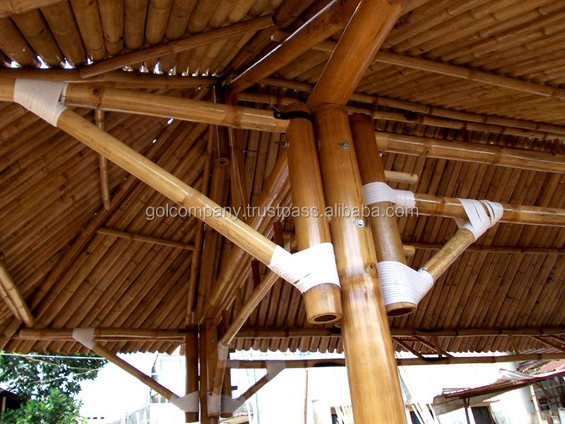 Wholesale Big Bamboo House Bar Bamboo Tiki Bar Hut Natural