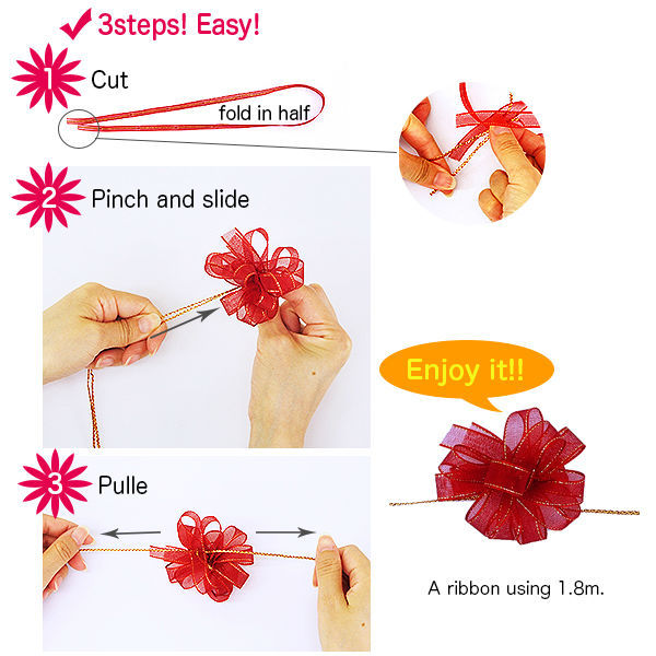 Colourful And Cute Organdy Ribbon Bow Decorative Gifts