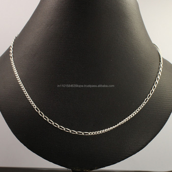 "2mm 925 Solid Sterling Silver Necklace Figaro Chain 18"" inches Fashion Men Women"