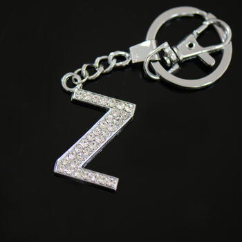 Diamante Letter Z Keyring,Fancy Key Rings For Sale - Buy Alphabet Letters  Key Ring,Fancy Key Rings For Sale,Alphabet Letter Design Key Chain Product