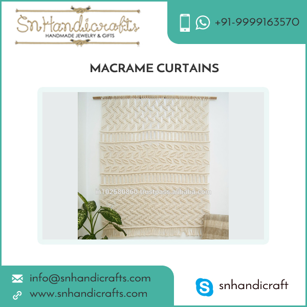 Large Woven Macrame Curtains/Wall Hanging for Luxurious Homes