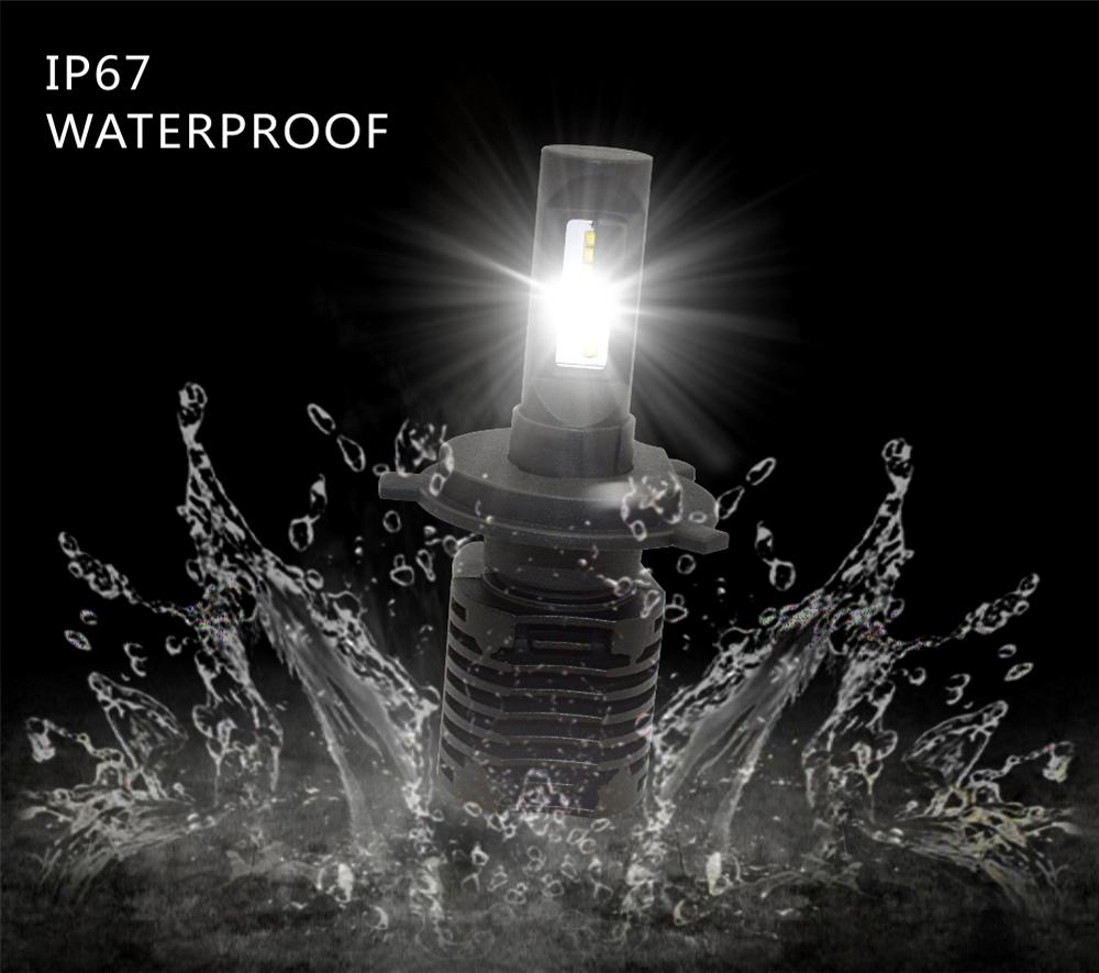 Brightest 80w 8000lm H4 H8 H9 H11 Led Headlight / Zy P8 Auto Led ...