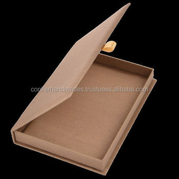Fabric Covered Wedding Invitation Boxes In Plain Colors For ...