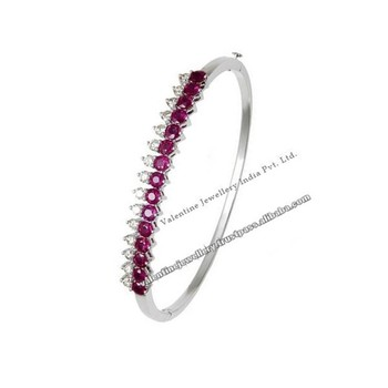 prong ruby bangles bangle set diamond bracelet