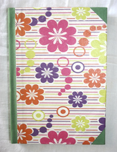 Colorful flowers printed dairy with journal customn