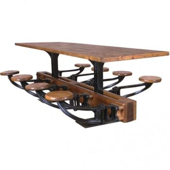 Cast Iron Wooden Swing Dining Table 8 Seaterindustrial Metal Wood Restaurant Dining Table Buy Exotic Wood Dining Tablessolid Wood Dining