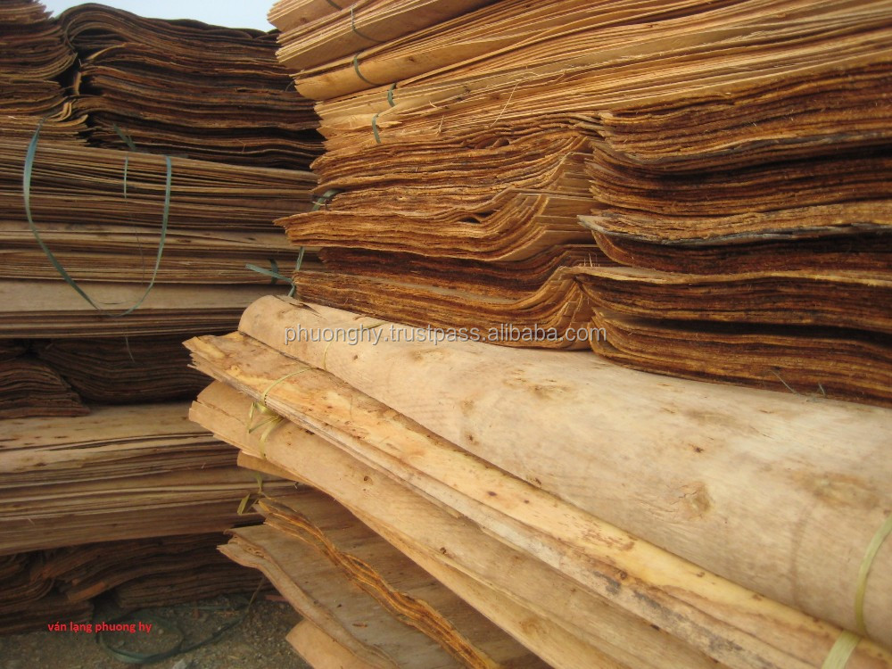 Acacia natural veneer to make plywood