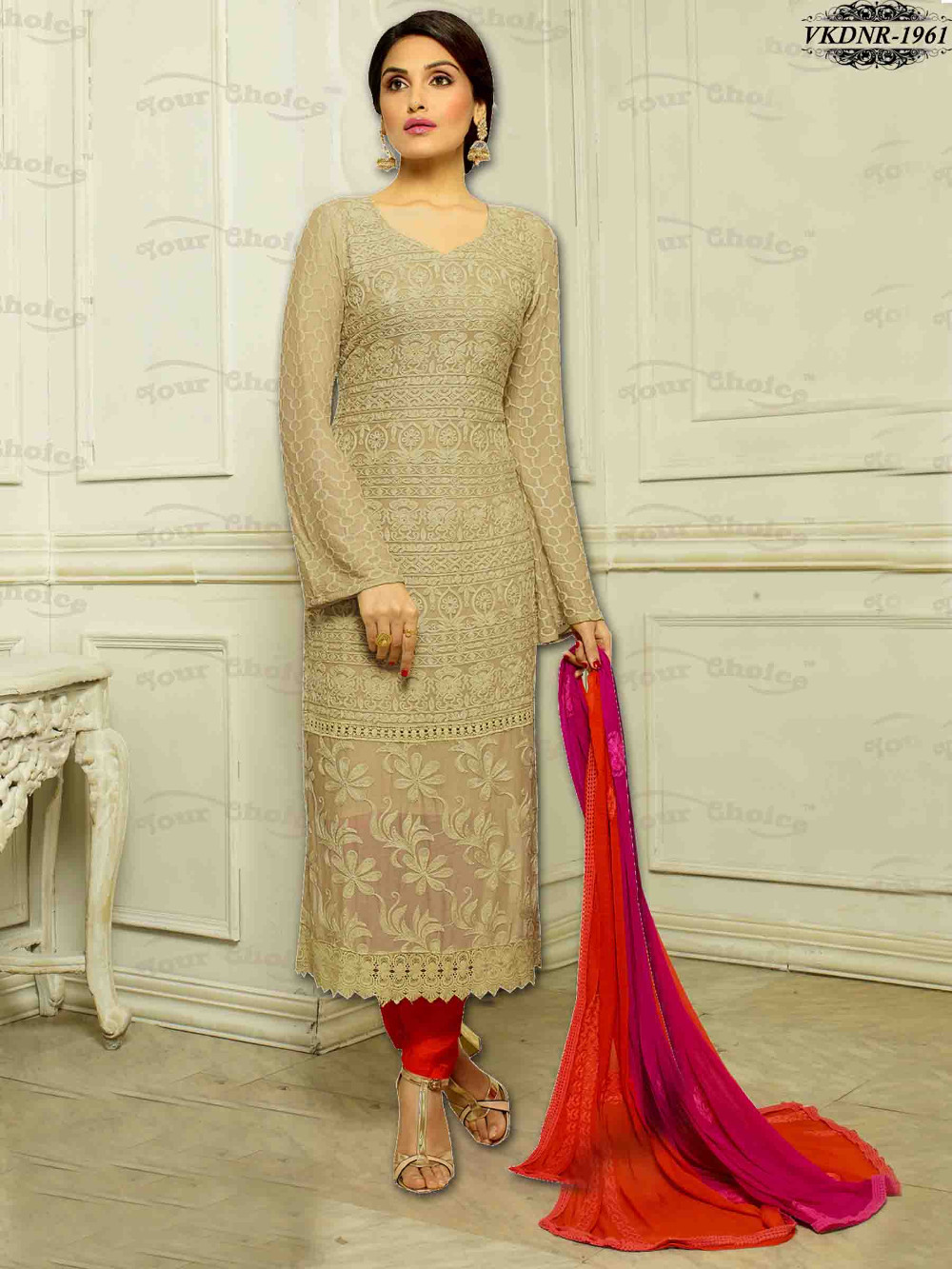 Cheap Price Pure Chiffon Karachi Work Dress Materials | Best ...
