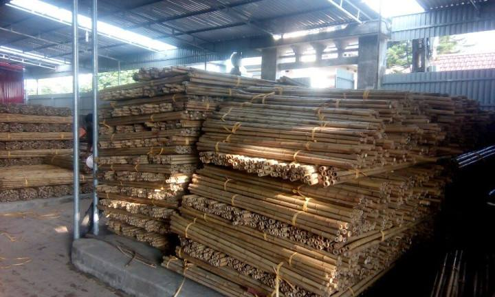 Natural Clean dry straight cheap treated Bamboo poles for sales- NCT