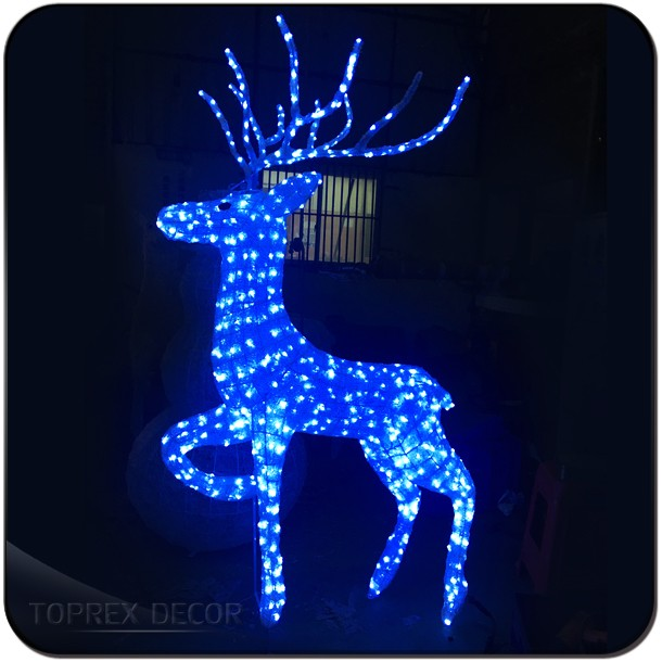 animated lighted reindeer christmas decoration - Animated Lighted Reindeer Christmas Decoration