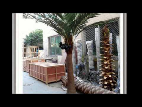 Artificial coconut palm trees wholesale,fake coconut tree,from Guangzhou qingyuan landscape