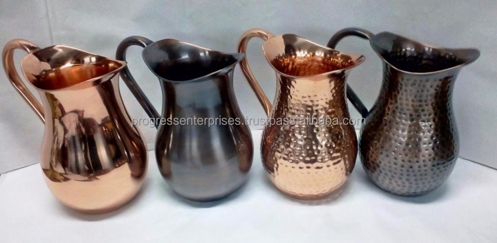 Best Tableware Hammered Solid Copper Pitcher for America