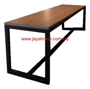 Superbe Bar Table High Metal Table Leg With Laminate Top / Alunimuim Top