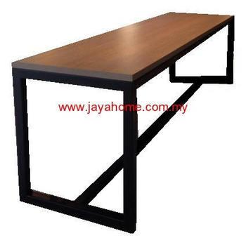 Bar Table High Metal Leg With Laminate Top Alunimuim