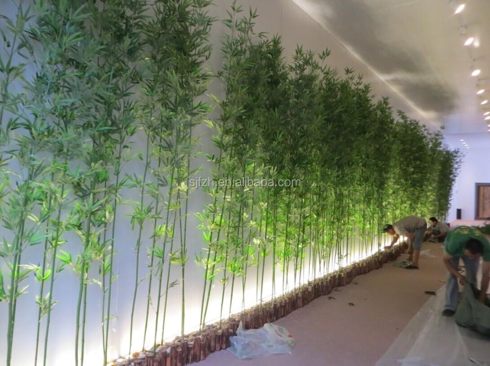 Kantoor en showroom muur decoratie nep bamboe kunstmatige bamboe