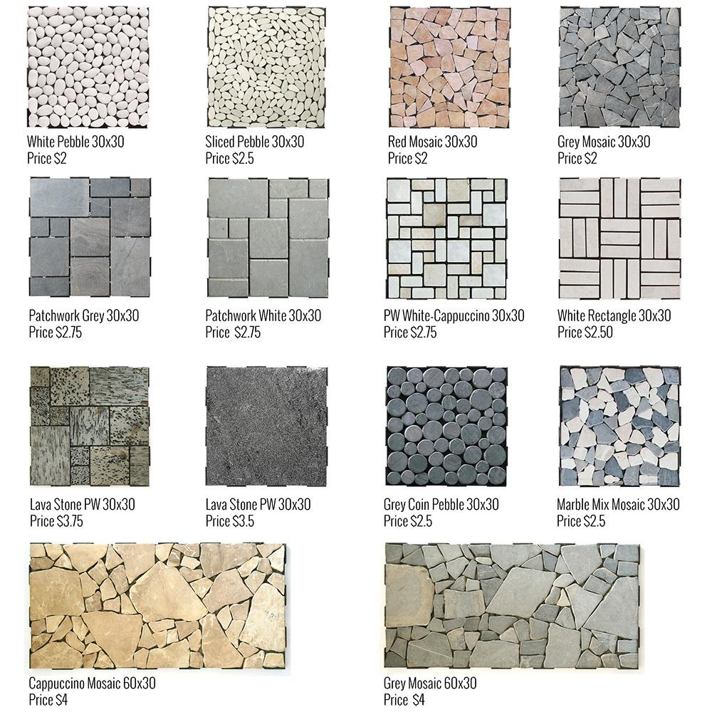 60x30 stone mosaic interlocking diy garden deck click tile buy interlocking garden stone - How to install interlocking deck tiles ...