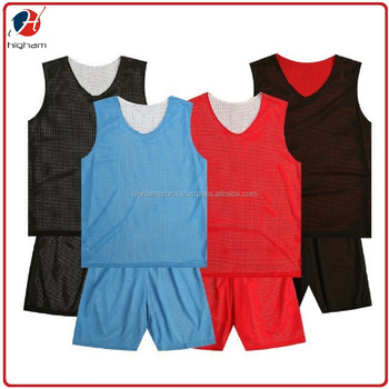 963bd59245d5 Custom Printing Wholesale Cheap Double Sided Polyester Mesh Basketball  Reversible Uniform