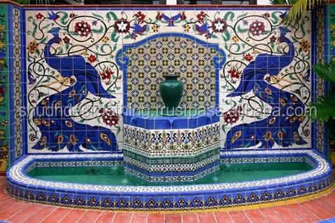 Online Jaipur Blue Pottery Tiles For Wall Decor
