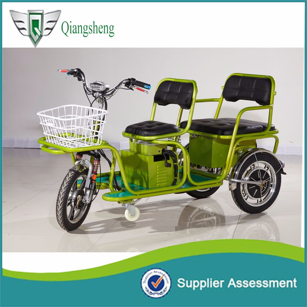 Battery operated electric tricycle for passenger