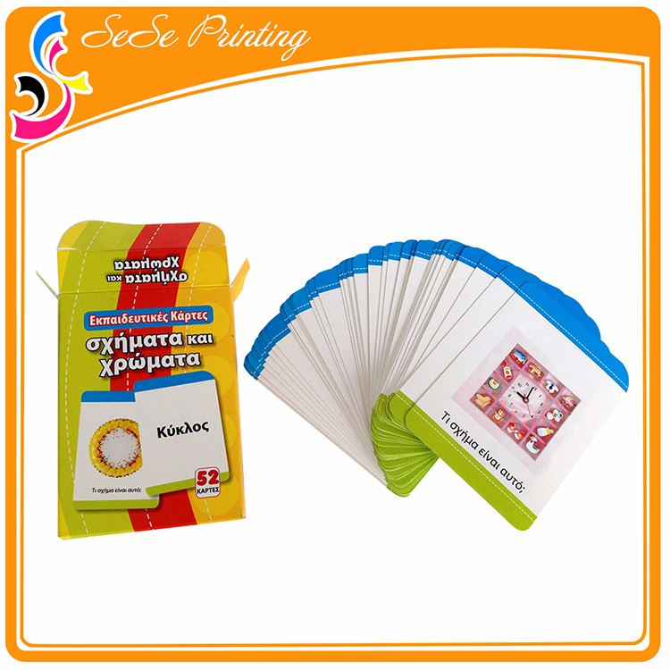 Children Educational Flash Cards,Cmyk Printed Paper Cards,Offset ...