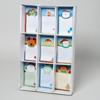 MEMO PAD MAGNETIC CHRISTMAS 50SHT 4X6 9AST DESIGNS IN 72PC #G91443
